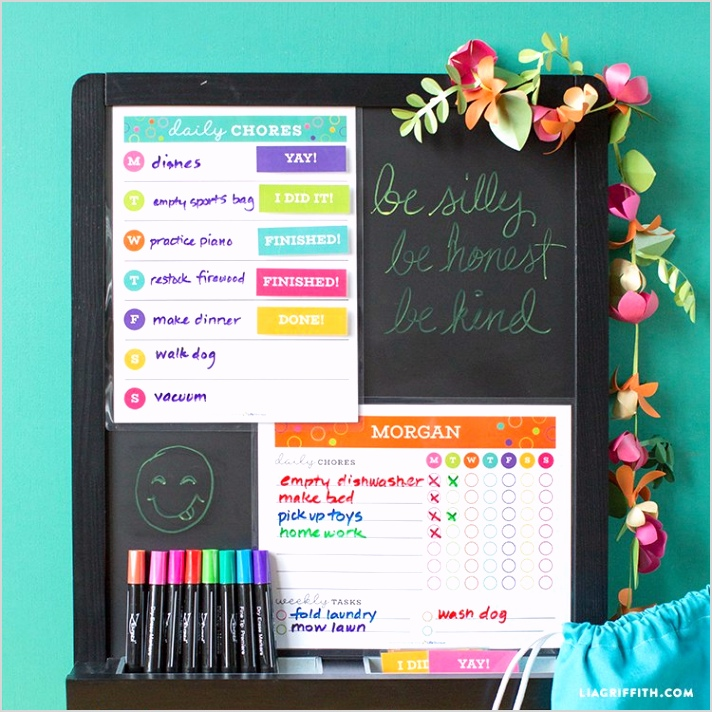 life storage printable chore chart template 2