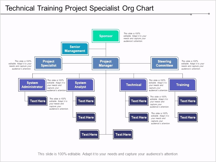 technical training project specialist org chart Slide01