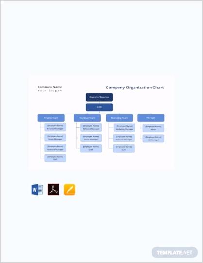 Free pany Organization Chart Template 440x570 1