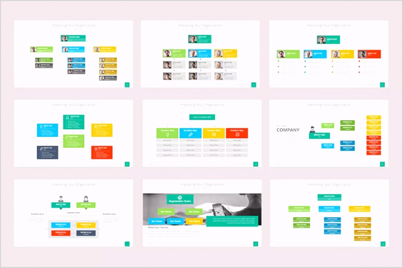 organizational chart template powerpoint org charts
