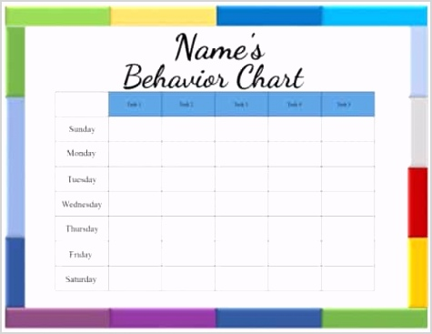 behavior chart template 500x387