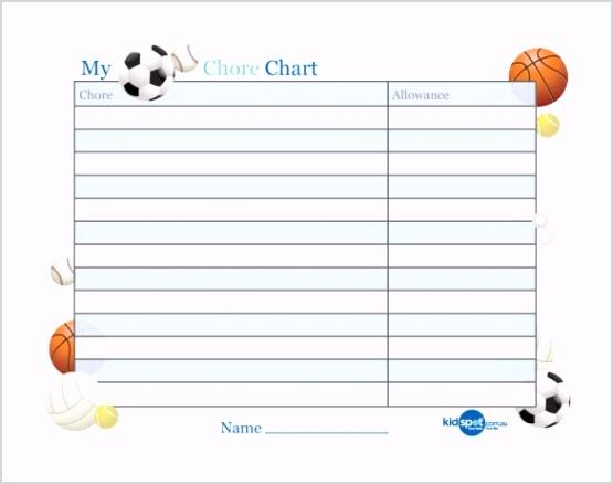 Basic Chart Template for Reward Free PDF Download