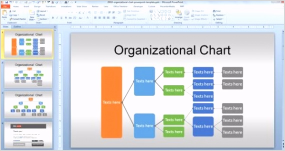 Org Chart Template Powerpoint 2010 600x318