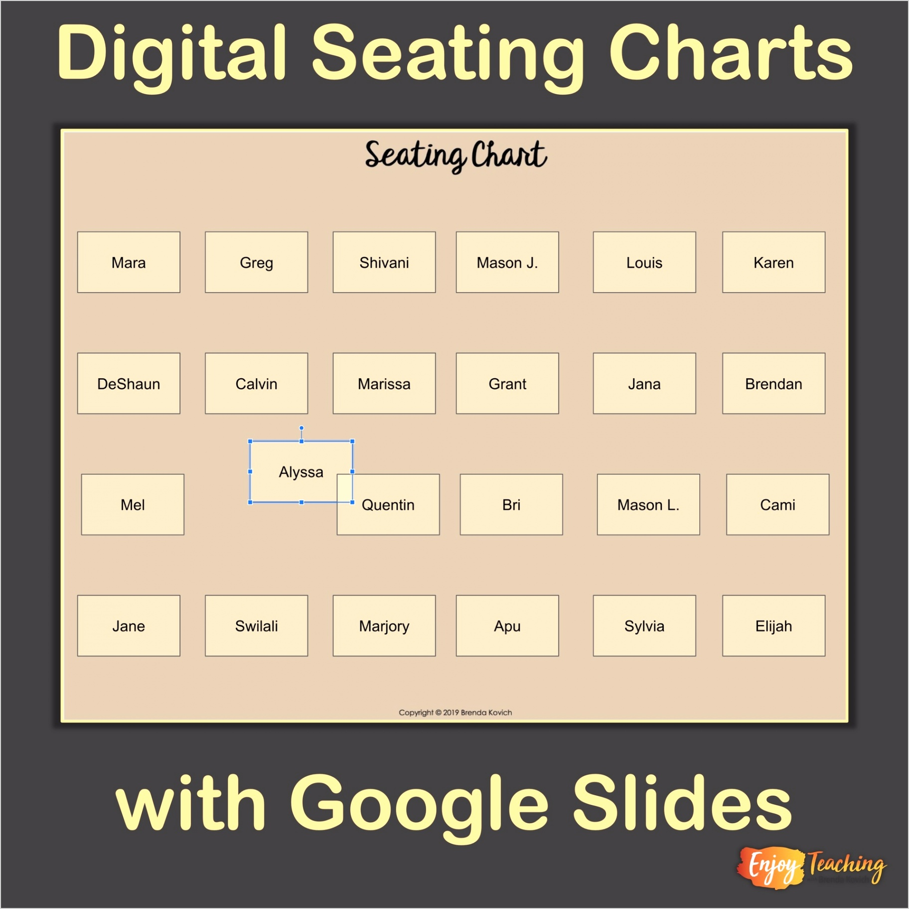 Seating Chart Square
