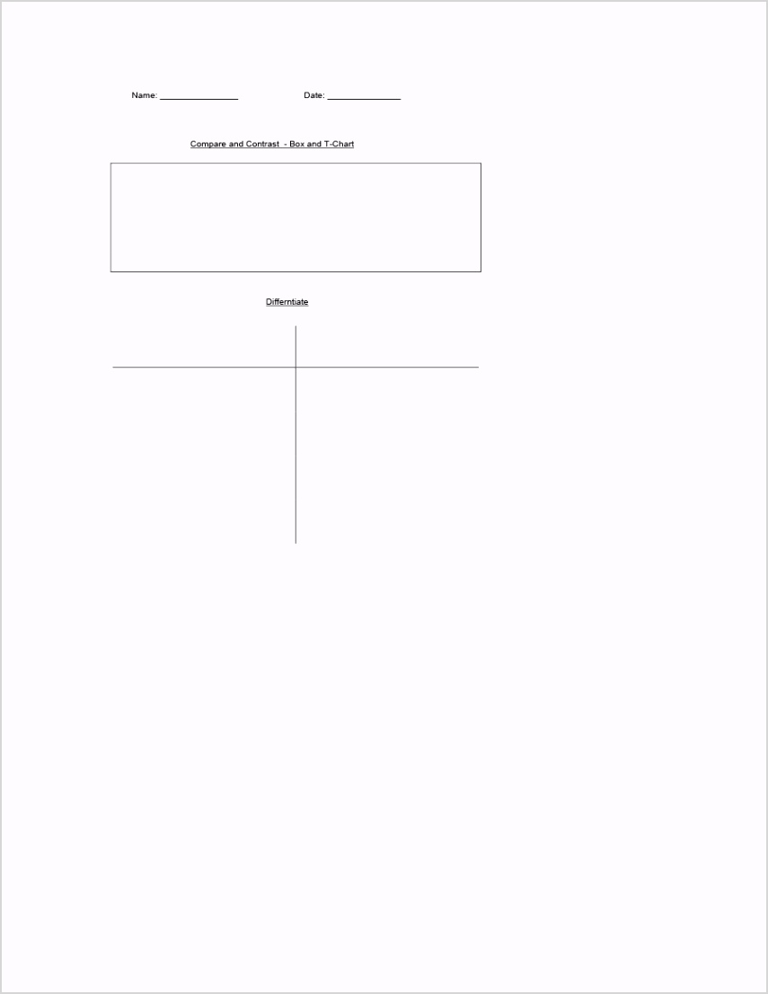 t chart template 21