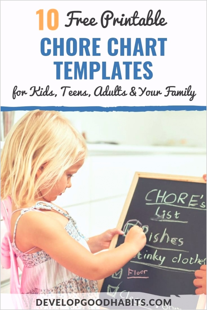 free chore chart templates