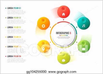 rotating circle chart template infographic design visualizatio gg