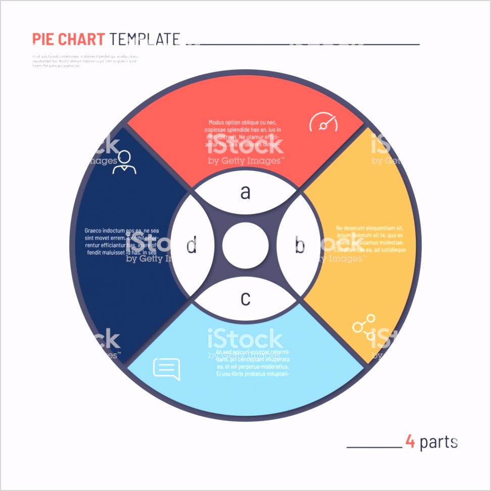 vector infographic circle chart template four parts gm