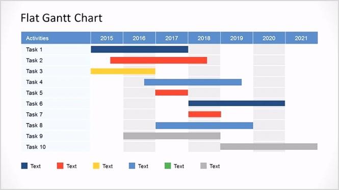 simple gantt chart powerpoint template