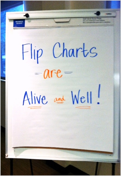 flip charts are alive and well