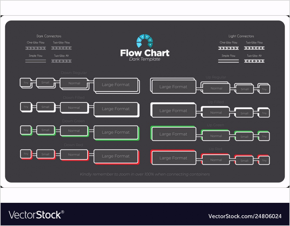bold and modern flow chart template vector