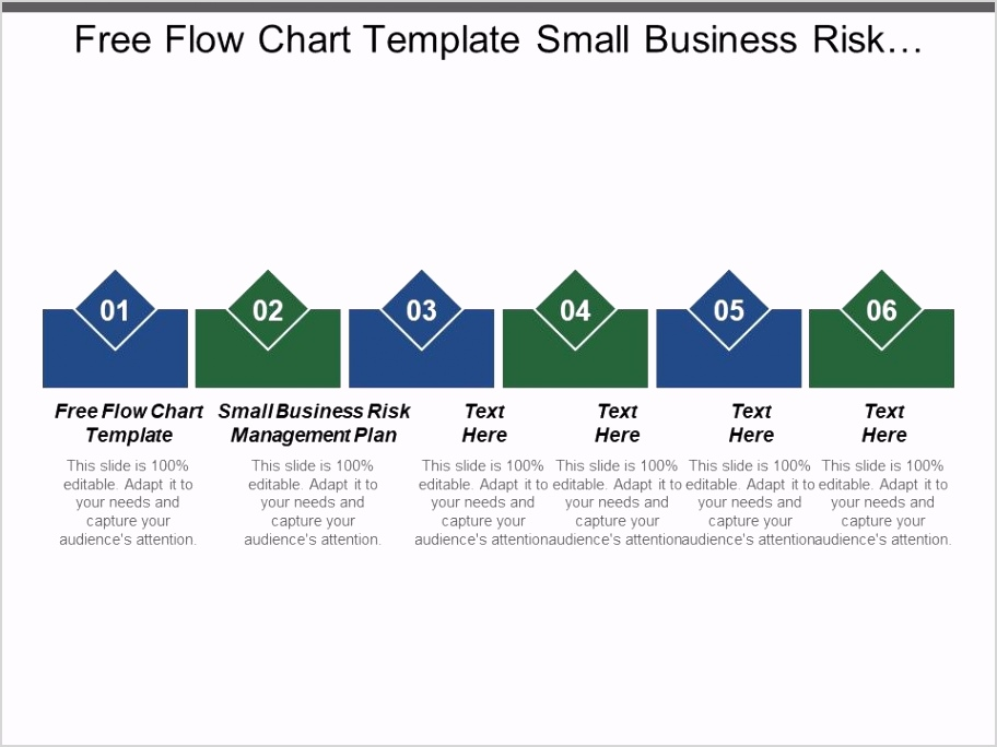 free flow chart template small business risk management plan cpb Slide01