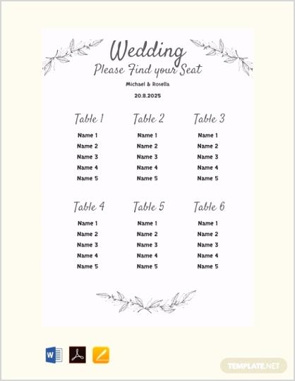 Free Printable Wedding Seating Chart Template 440x570 1