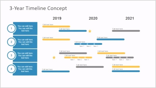 7615 02 3 year timeline concept powerpoint 16x9 Copy 1 558x314