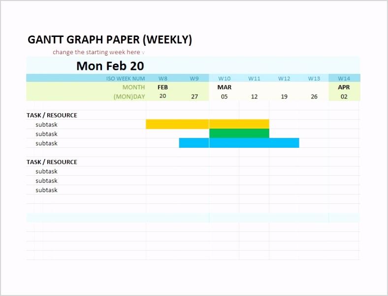 Grantt Chart Template 15