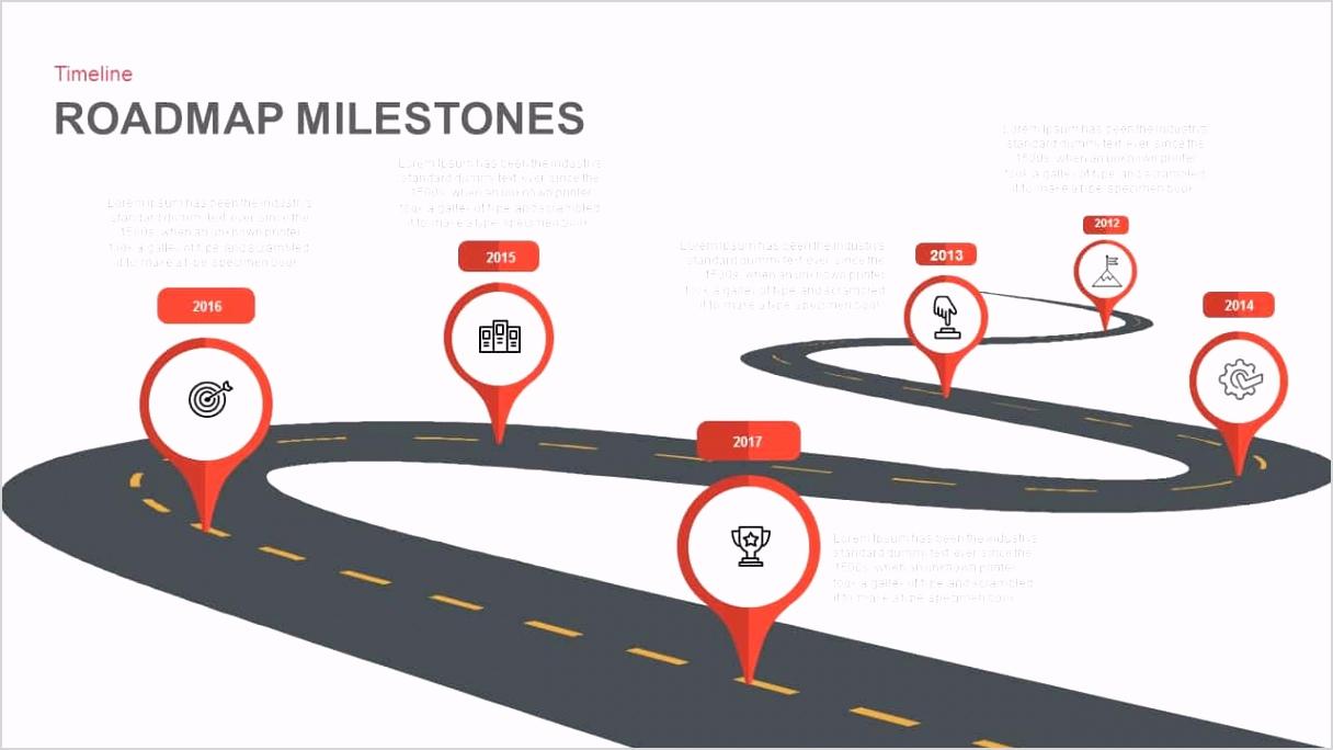 Roadmap Milestones Powerpoint and Keynote template
