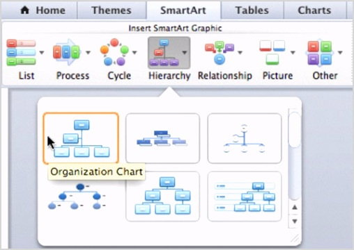how to make smartart charts in office 2011 for mac