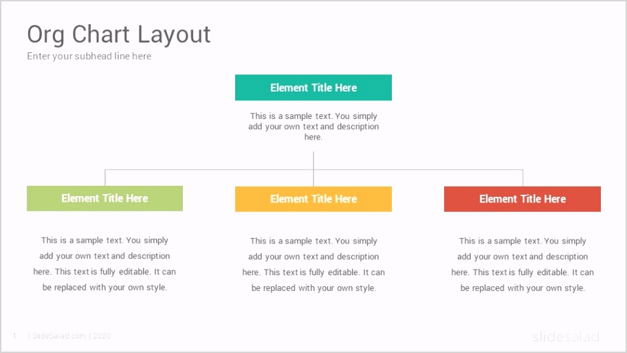 Org Chart PowerPoint Template Diagrams Slides 0001