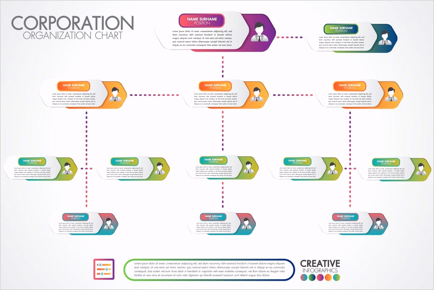corporate organization chart template vector
