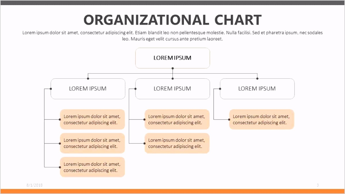 The Divisional Organizational Chart Template slide