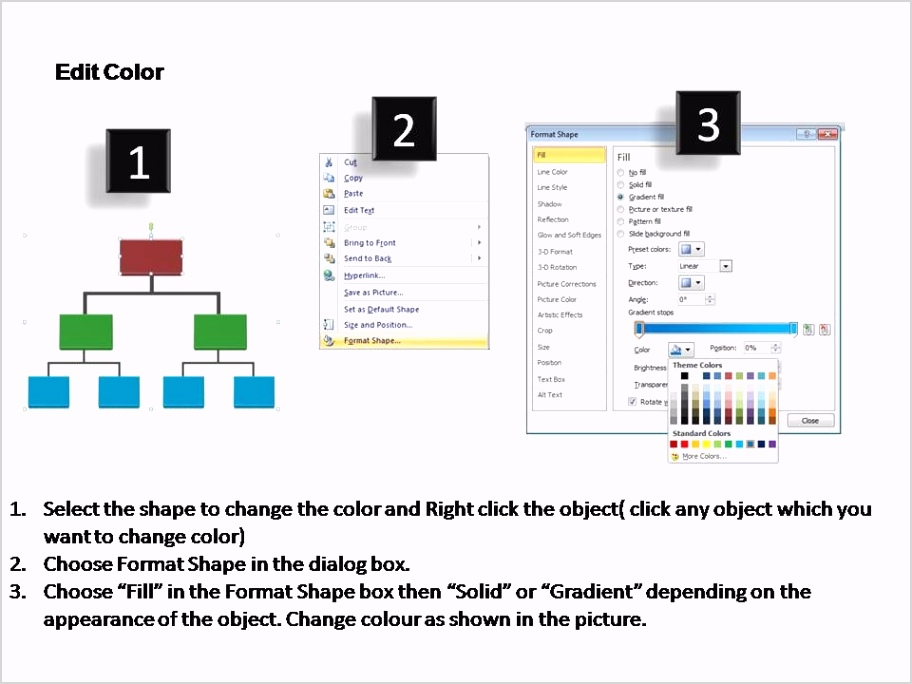 basic organization chart editable powerpoint templates Slide04