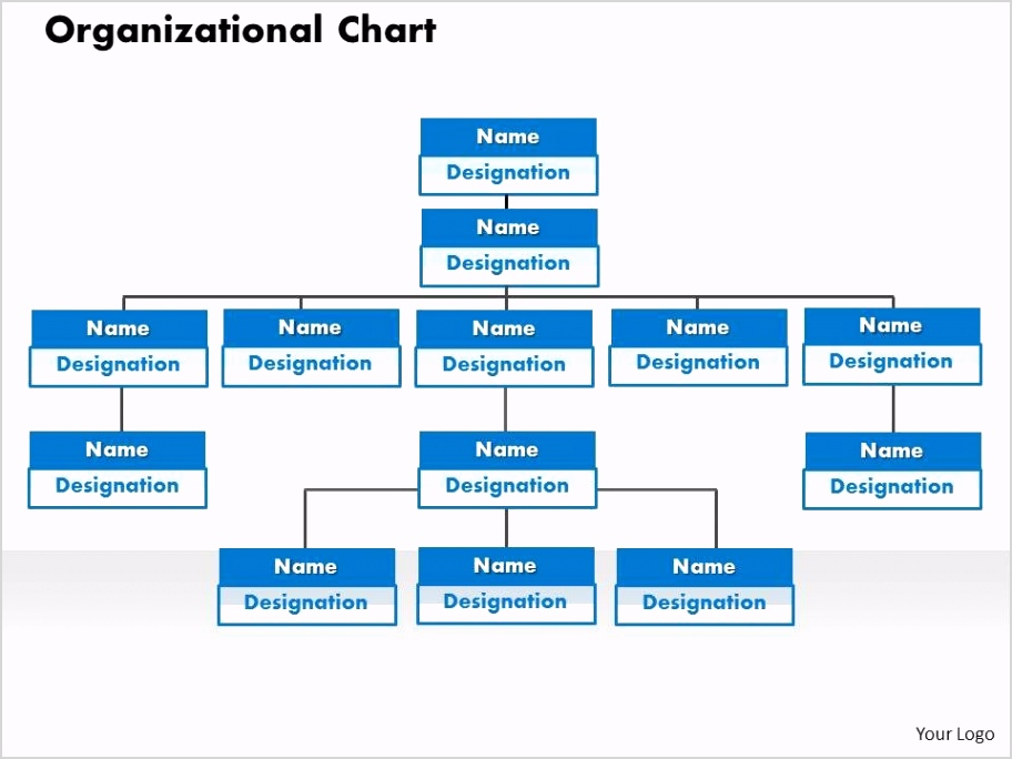 organizational chart powerpoint presentation slide template Slide01