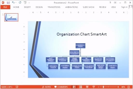 Organization Chart Template Powerpoint Free