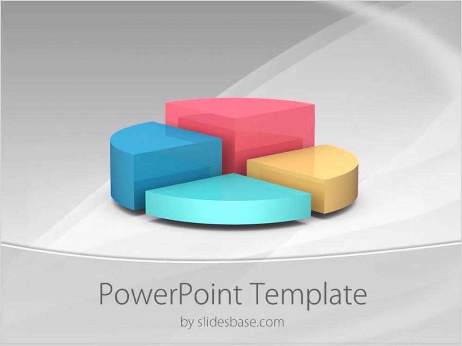 3D pie chart graph business diagram colorful professional powerpoint template Slide1 1