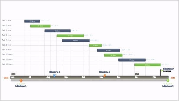 editable powerpoint gantt chart template wide screen 1 638