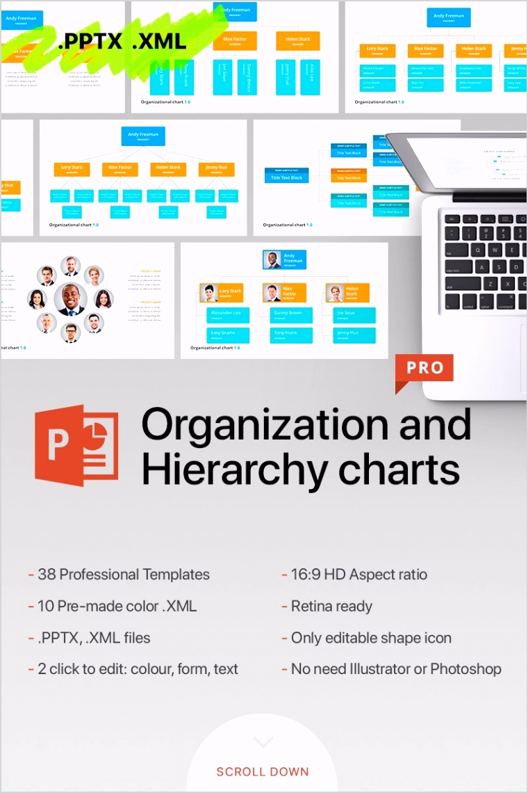 organizational chart hierarchy powerpoint template original
