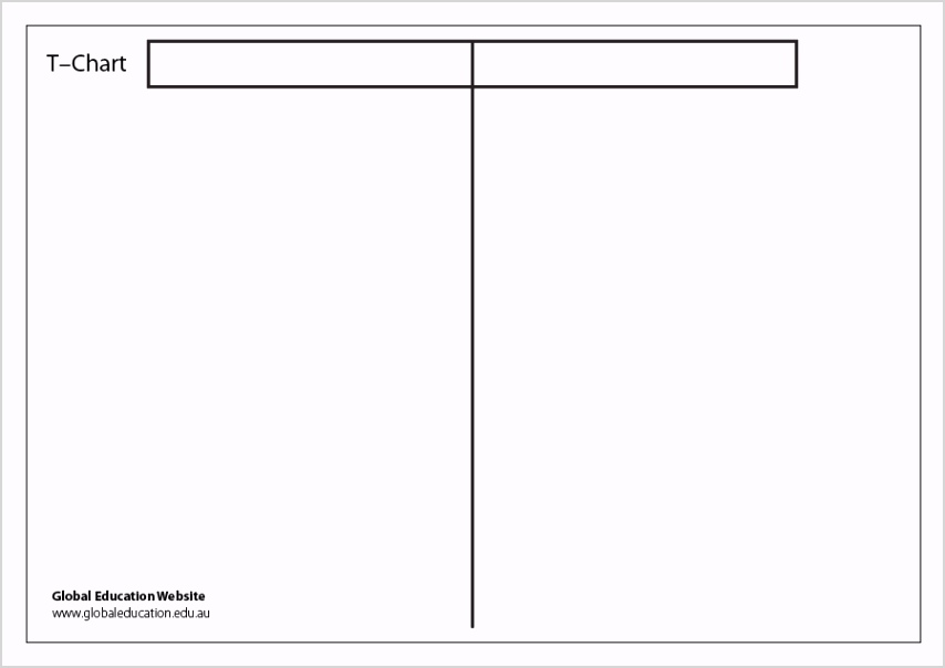 t chart template 12