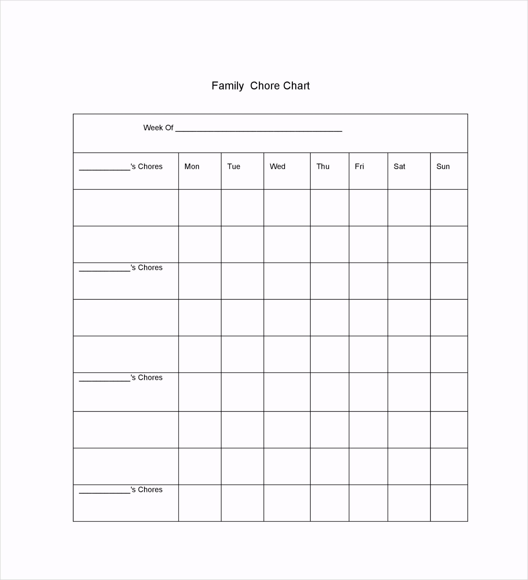chore chart template 28