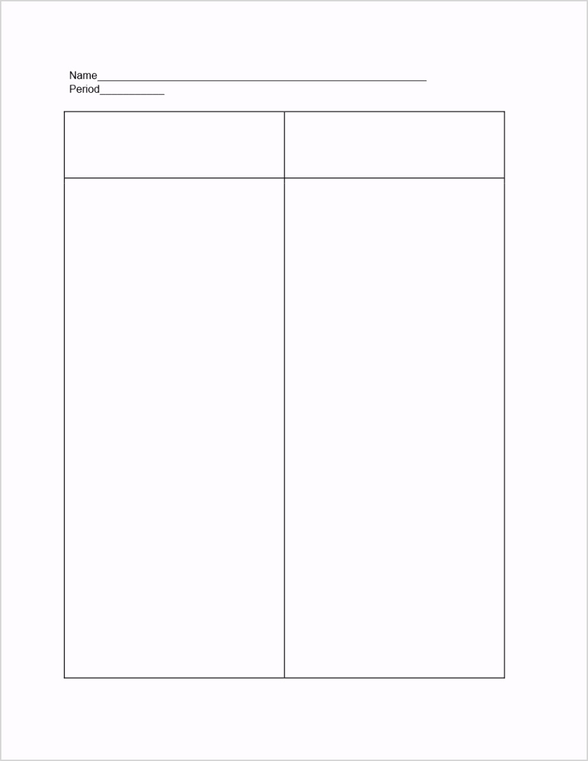 t chart template 01