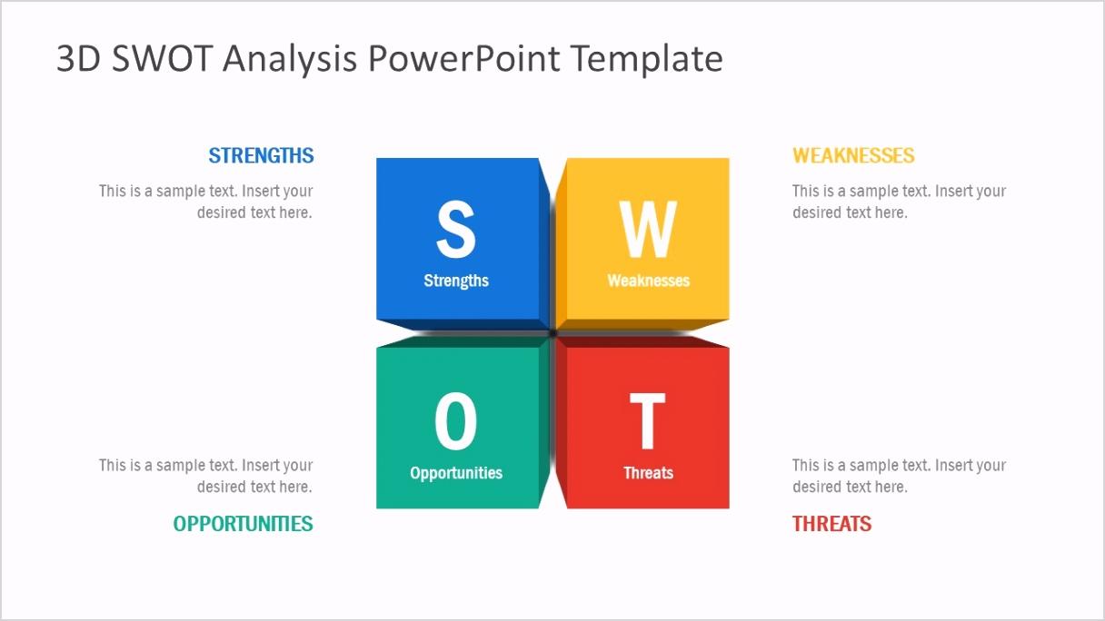 01 3d swot analysis powerpoint template 16x9 1