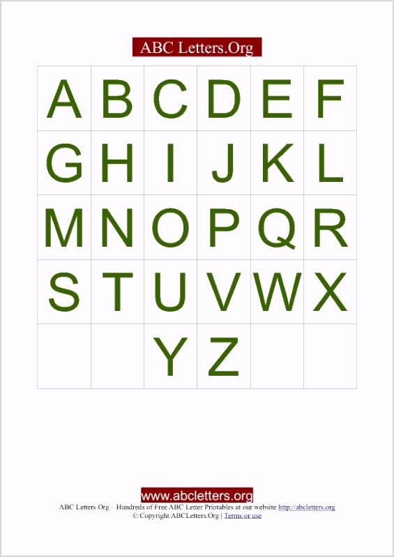 letter cards green