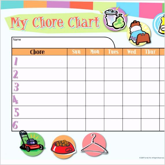 imom chore chart customizable