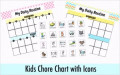 Chore Chart Template for Kids