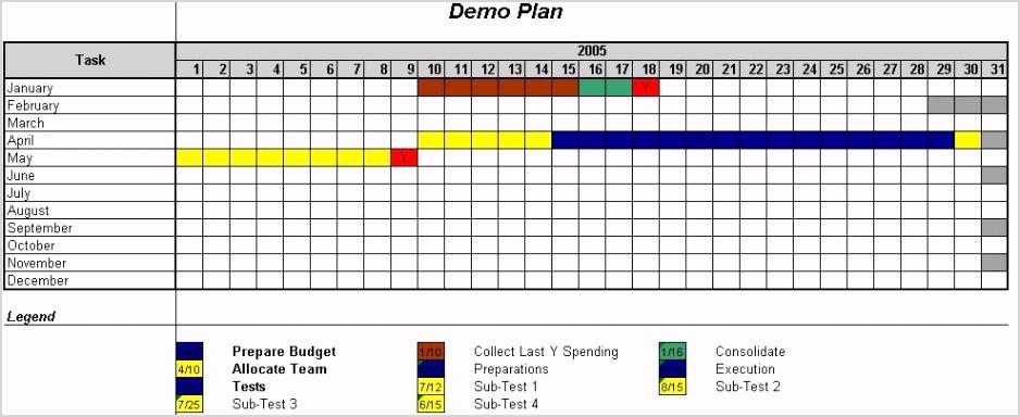 Excel Gantt chart Templates1