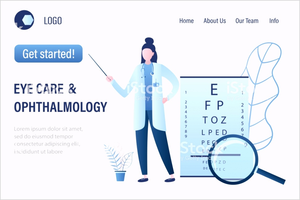 Ophthalmology Diagnostics And Eye Test Landing Page Template