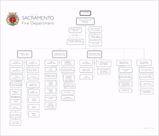 Fire Department Organizational Chart Templates