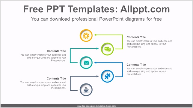 Arrow flow PowerPoint Diagram Template