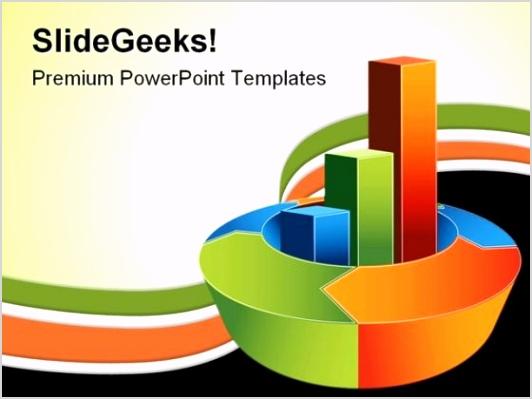 bar chart business powerpoint template 0910 title