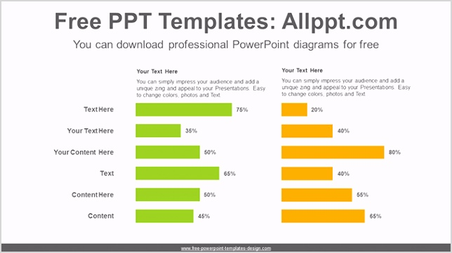 Two Horizontal bar chart PowerPoint Diagram Template post image