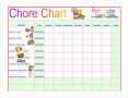 Free Printable Family Chore Chart Template