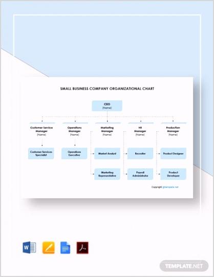 Small Business pany Organizational Chart 2
