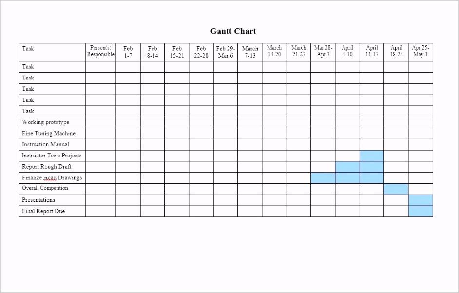 Grantt Chart Template 36