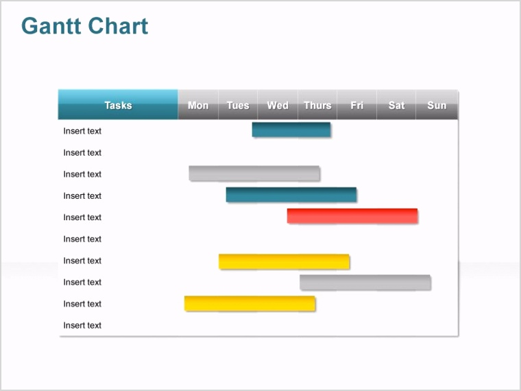 products pert gantt chart powerpoint slide