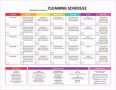 House Cleaning Chart Template