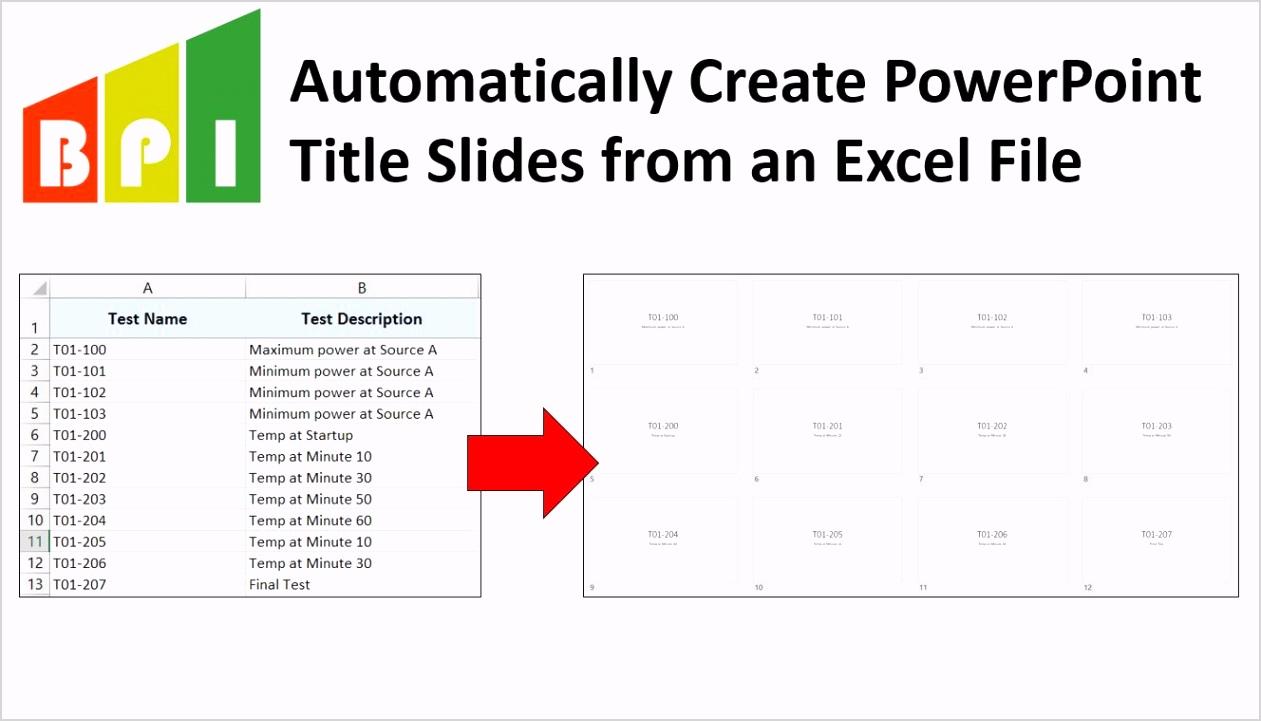 Excel to PPT Slides Logo
