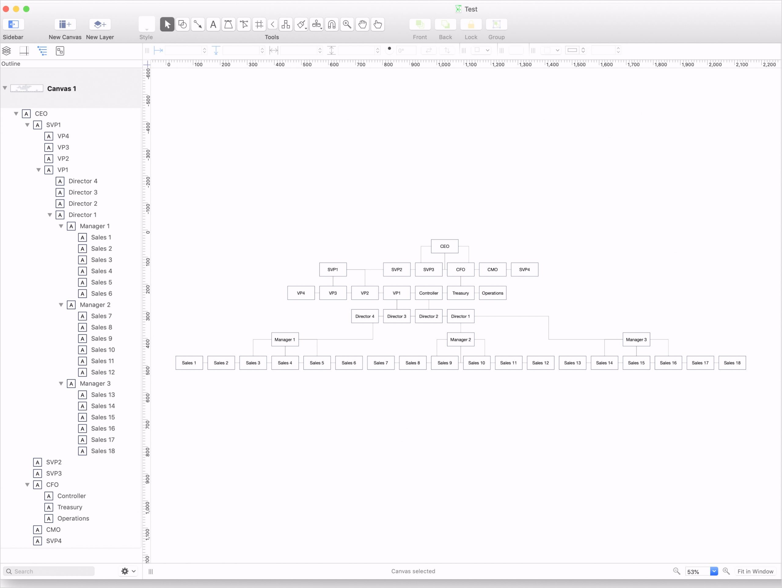 Org Charts Strange Logic OmniGraffle for Mac The